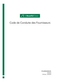 A beautiful green et son code conduite fournisseurs